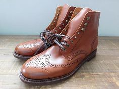 J.CREW Ludlow Leather Wing TIp Boots Shoes $368 English Tan 11 c8878 Office SWAG