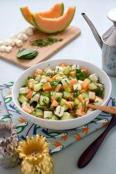 Good Healthy Recipes, Veggie Recipes, Salad Recipes, Feta Salat, I Love Food, Summer Recipes, Food Inspiration, Entrees, Food And Drink