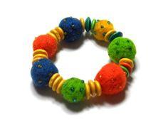 Bracelet - Needle Felted Beads Needle Felting, Brooch, Beads, Bracelets, Beading, Brooches, Bead, Pearls, Seed Beads