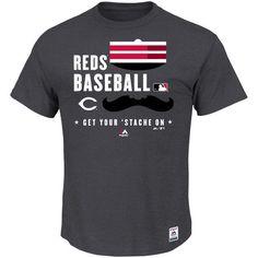 Cincinnati Reds Majestic Big & Tall Team Driven T-Shirt - Gray - $34.99