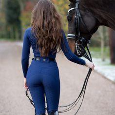 Erin Williams, Equestrian Chic, Blazers, Black Heart, Olympia, Royal Blue, Leather Pants, Capri Pants, Tights