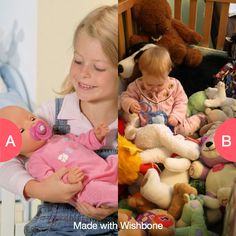 Dolls or stuffed animals? Click here to vote @ http://getwishboneapp.com/share/2494194