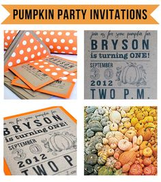 halloween party invitations // pumpkin patch bash // first birthday