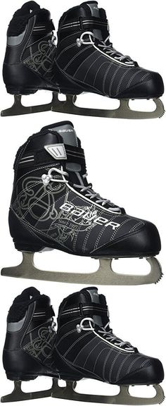 Other Hockey Skates 165935: Bauer Women S React Recreational Ice Skates Black R 05.0, New -> BUY IT NOW ONLY: $87.85 on eBay!