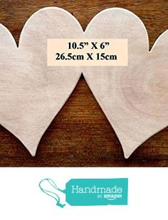 """Beautiful Large Sized Hand Crafted MDF 'Two Love Hearts' Craft shape / Plaque - 10.5"""" X 6"""" - 9mm Thick from The Andromeda Print Emporium https://www.amazon.co.uk/dp/B01K9IGQBO/ref=hnd_sw_r_pi_dp_hTxRxb9D9XCHB #handmadeatamazon"""