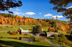 This quaint town is home to many small town gems—from the Marsh-Billings-Rockefeller National Historical Park to the Woodstock Farmer's market—that will ensure you have a fun getaway while surrounded by vibrant fall colors.  For more information, visit Woodstockvt.com.   - CountryLiving.com