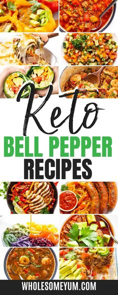 Delicious and easy low carb bell pepper recipes! #wholesomeyum Low Carb Dinner Recipes, Keto Dinner, Keto Diet For Beginners, Recipes For Beginners, Real Food Recipes, Diet Recipes, Recipe With 10 Ingredients, Keto Food List, Low Carb Diet