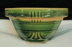 McCoy Green Yellow Ware Mixing Bowl