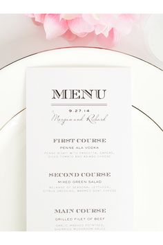 Such a cute wedding menu idea! http://www.shineweddinginvitations.com/menus/antique-vintage-wedding-menus