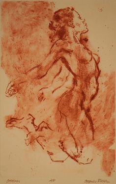 Stephen Fieser / drypoint engraving / intaglio / printmaking / nude / woman / figure / figurative / art / drawing /