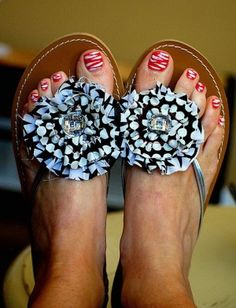 Check out the flip flop makeover, the braided flip flops, I HAVE to try this!