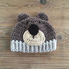 A personal favorite from my Etsy shop https://www.etsy.com/listing/249033884/crochet-bear-hat-crochet-boy-hat-bear