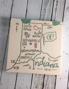 Indiana Heritage 8x8 Canvas