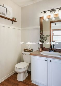 Great & Easy DIY Bathroom Remodeling & Makeover #smallbathroom #Bathroomremodel