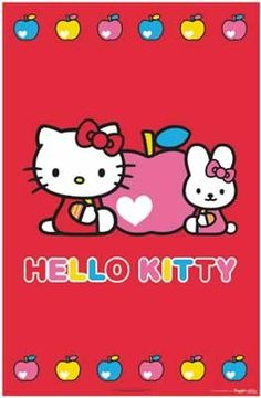 "$6.99 Hello Kitty - Poster (Pink Apple & Heart) (Size: 24"" x 36"")  From Posterstoponline   Get it here: http://astore.amazon.com/ffiilliipp-20/detail/B001QF9IAG/181-0414898-1615931"