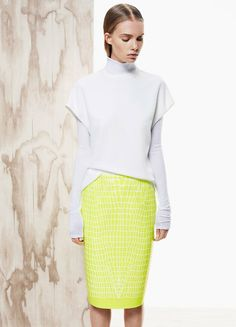 If these garments were found separately in a thrift store with no tags, I'm pretty sure they would end up in the landfill. The skirt might go for Halloween as a lemon-flavored lizard.