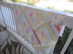 This awesome shabby chic style crib quilt was created by me in my smoke and pet free studio. I used the Moda collection of FLEURS cotton fabric with gorgeous lace on the front of the quilt. The back of the quilt is pure white quality flannel for softness. I have used organic cotton batting inside the quilt. Straight line quilting on the front and the back. I have used a coordinating floral fabric from the collection also in the binding of the quilt. Super different girly quilt perfect for...