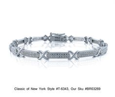 Sterling Silver Pave CZ x and Bar Link Tennis Bracelet Classics of NY T 6343 $267.00 | eBay http://www.ebay.com/itm/Sterling-Silver-Pave-CZ-X-and-Bar-Link-Tennis-Bracelet-Classics-NY-T-6343-/271083739483?pt=Fashion_Jewelry=item3f1dd9995b