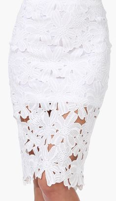 Crochet Pencil Skirt - I like this is they would just lengthen the underskirt