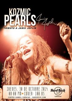 Cresta Metálica Producciones » Regresa el Tributo a Janis Joplin en Hard Rock Cafe Caracas este 30 de octubre
