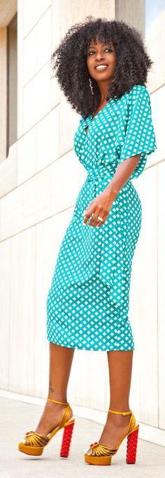 Printed Tunic Midi Dress by Style Pantry