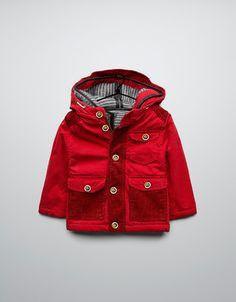 THREE QUARTER LENGTH COAT WITH DETACHABLE SHEEPSKIN LINING - Coats - Baby boy (3-36 months) - Kids - ZARA Canada