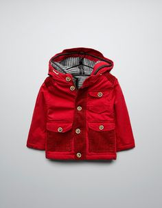 three quarter length coat with detachable lambskin lining - Coats - Baby boy (3-36 months) - Kids - ZARA