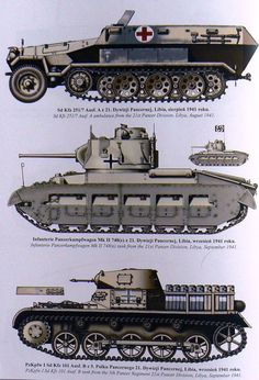 Afrika Korps vehicles Army Vehicles, Armored Vehicles, Military Art, Military History, Afrika Corps, Military Drawings, Tank Armor, Model Tanks, Military Pictures