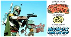 """Promoting my appearance at the 2015 Motor City Comic Con with my comic book, """"Bodie Troll"""""""