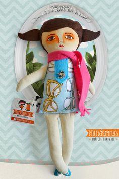 Rebeca: Muñeca de tela / Cloth doll | Mandarinas! www.mandarinasdetela.wordpress.com | #handmade #doll #mandarinasdetela #mandarinas