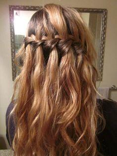 Waterfall French braid.