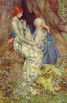 Merlin and Vivien   Eleanor Fortescue-Brickdale