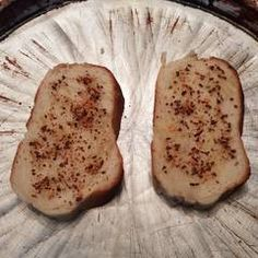 Tostadas saborizadas Receta de martalhanna - Cookpad Baked Potato, Potatoes, Lunch, Cheese, Baking, Ethnic Recipes, Food, Tostada Recipes, Finger Foods