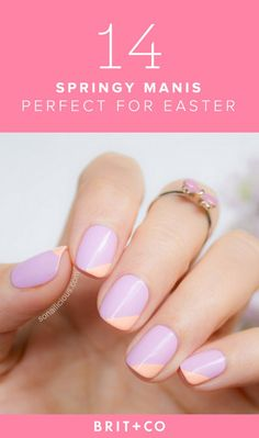Get some pastel nail art inspo from these pretty spring manis.