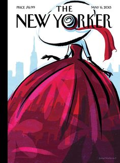 Fashion Drawing City Flair - The New Yorker Cover, May 2013 Poster Print by Birgit Schössow at the Condé Nast Collection - New Yorker May 2013 by Birgit Schoessow