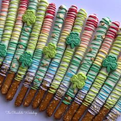 Your place to buy and sell all things handmade Chocolate Pretzel Rods, Chocolate Covered Treats, Hot Chocolate, Pretzel Sticks, Custom Chocolate, Unicorn Party, Gold Paint, St Patricks Day, Etsy Seller