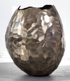 XL Bronze Facet Vase