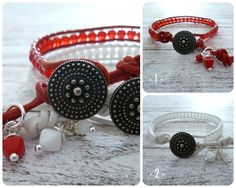 MaiLove ★ Button Wrap Bracelets ★ Wickelarmband