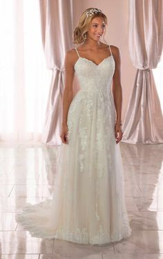 Unique Country Wedding Dresses 6744 Floral-Inspired Beach Wedding Dress by Stella York. Unique Country Wedding Dresses 6744 Floral-Inspired Beach Wedding Dress by Stella York Affordable Wedding Dresses, Wedding Dresses Plus Size, Plus Size Wedding, Best Wedding Dresses, Designer Wedding Dresses, Bridal Dresses, Wedding Gowns, Wedding Outfits, Beach Wedding Bridesmaids