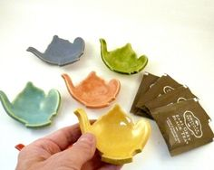 Teabag Holder, Ring Dish, Tea Bag Holder, Teapot Jewelry Dish, Storage  Jewelry Holder Rs Earring Bowl / Ring Dish / Spoon Rest by Blue Sky Pottery on Gourmly