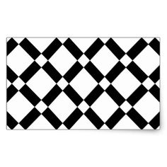 Abstract geometric pattern - black and white. rectangular sticker - christmas stickers xmas eve custom holiday merry christmas