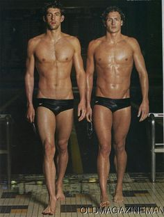 ** Two of the men from the USA 2012 London Olympic Swim Team ~ Phelps and Lochte