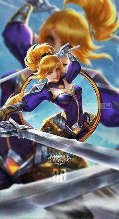 Mobile Legend Wallpaper, Hero Wallpaper, Zoro, Game Character, Character Design, Miya Mobile Legends, Moba Legends, Legend Games, The Legend Of Heroes
