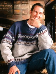 Fair Isle V-Neck | Yarn | Free Knitting Patterns | Crochet Patterns | Yarnspirations