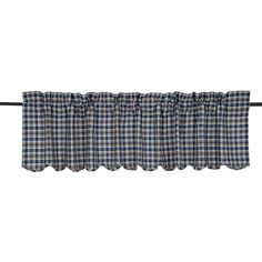 Jenson Scalloped Curtain Valance 72 x 16 from VHC Brands (Victorian Heart). Jenson Scalloped Valance is an enlarged plaid in yarn-dyed woven threads blue, white Primitive Kitchen, Country Primitive, Kitchen Valances, Kitchen Benches, Kitchen Decor, Farmhouse Homes, Drapes Curtains, Cheap Home Decor, Interior Decorating