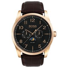 Buy an Authentic, brand new Men's Hugo Boss Herritage Brown Leather Strap Watch 1513468 at NYWatchStore. Boss 2, Hugo Boss Man, Hugo Boss Watches, Brown Leather Strap Watch, Mineral, Omega Watch, Quartz, Rose Gold, Stuff To Buy
