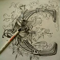 So ornate and detailed! #lettering