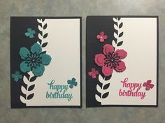 Handmade card using the Botanical Blooms stamp set from Stampin' Up! http://stampinbychristina.com/