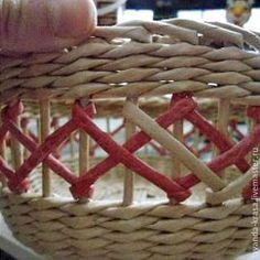 Мастер-класс по плетению ажура на готовой корзинке – Ярмарка Мастеров