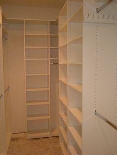 long and narrow closet.